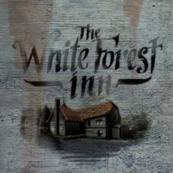 The White Forest Inn sign.