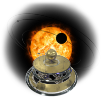 The Lab Solar System sun orrery.png